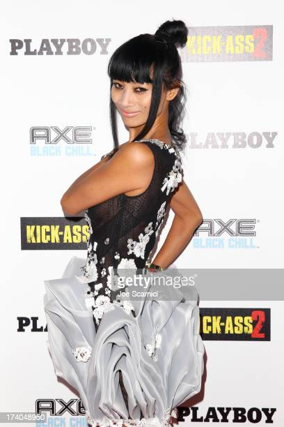 Actress Bai Ling arrives at the Playboy and Universal Pictures' 'KickAss 2' event at ComicCon sponsored by AXE Black Chill on July 19 2013 in San...