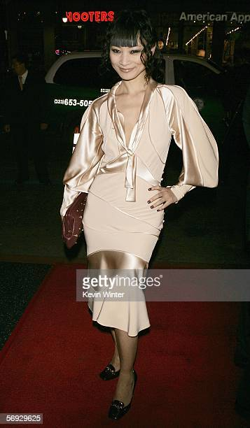 Actress Bai Ling arrives at the premiere of the HBO Original Series Big Love at the Chinese Theater on February 23 2006 in Los Angeles California