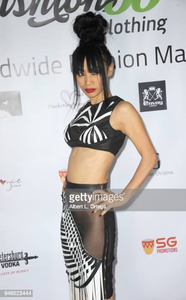 Actress Bai Ling arrives for the Global Launch Of Fashion88 held at Pol' Atteu Haute Couture on April 14 2018 in Beverly Hills California