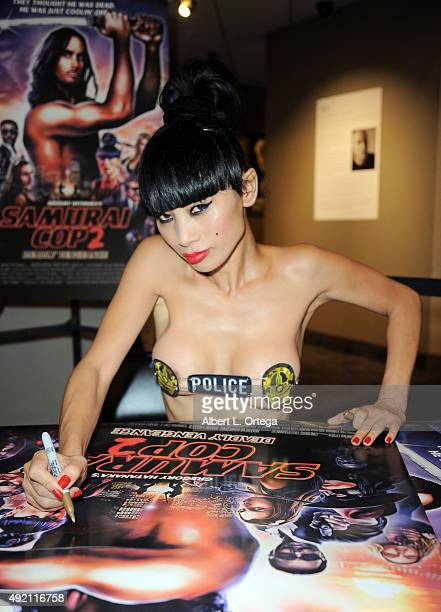Actress Bai Ling arrives for the Premiere Of CineRidge Entertainment's 'Samurai Cop 2' held at Laemmle NoHo 7 on October 9 2015 in North Hollywood...
