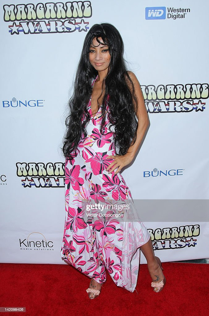 Actress Bai Ling arrives for the premiere of 'Margarine Wars' at ArcLight Hollywood on March 29, 2012 in Hollywood, California.