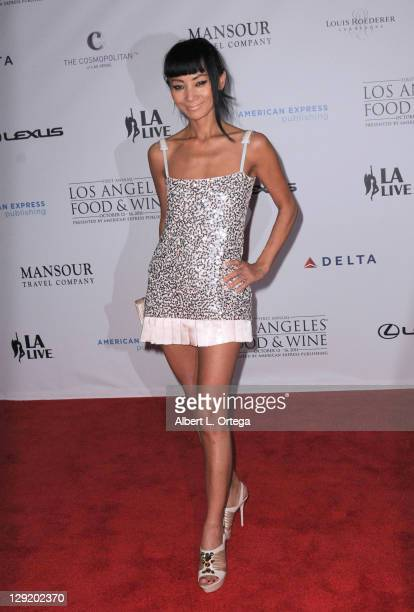 Actress Bai Ling arrives for the premiere of the 1st Annual Los Angeles Food Wine at Nokia Plaza LA LIVE on October 13 2011 in Los Angeles California