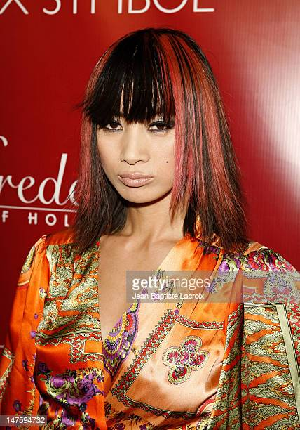Actress Bai Ling arrives to the Frederick's of Hollywood 2008 Spring Collection Fashion Show To Benefit Clothes off our Backs at the Hollywood...