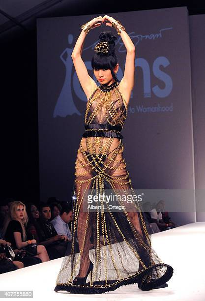 Actress Bai Ling at the 2015 Los Angeles Style Fashion Week's 'A Night With Haiti' show held at The Reef on March 21 2015 in Los Angeles California