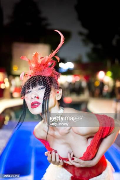 Actress Bai Ling attends Lisa Haisha's Moulin Rouge Birthday Celebration on May 12 2018 in Sherman Oaks California