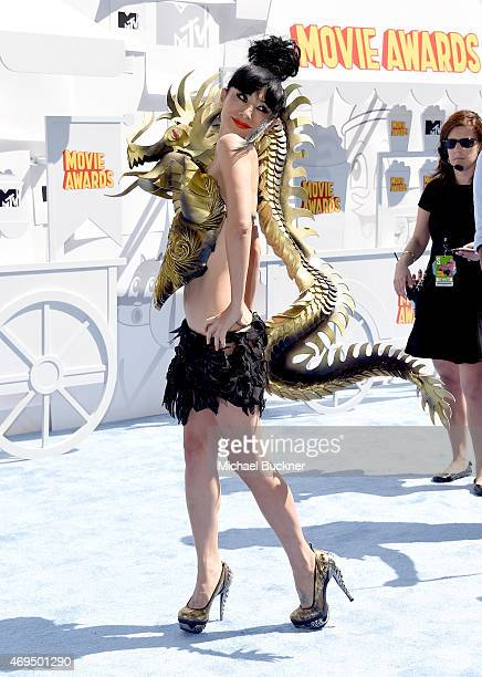 Actress Bai Ling attends The 2015 MTV Movie Awards at Nokia Theatre L.A. Live on April 12, 2015 in Los Angeles, California.
