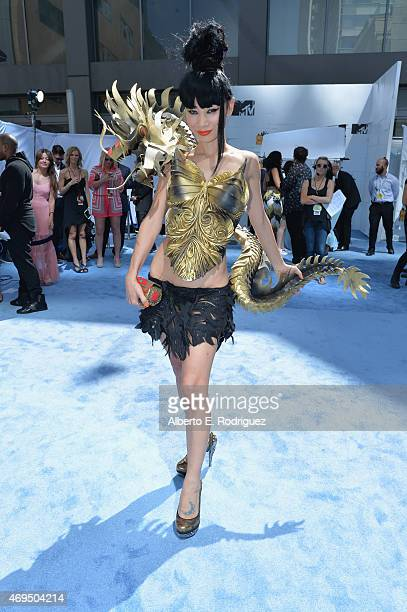 Actress Bai Ling attends The 2015 MTV Movie Awards at Nokia Theatre LA Live on April 12 2015 in Los Angeles California