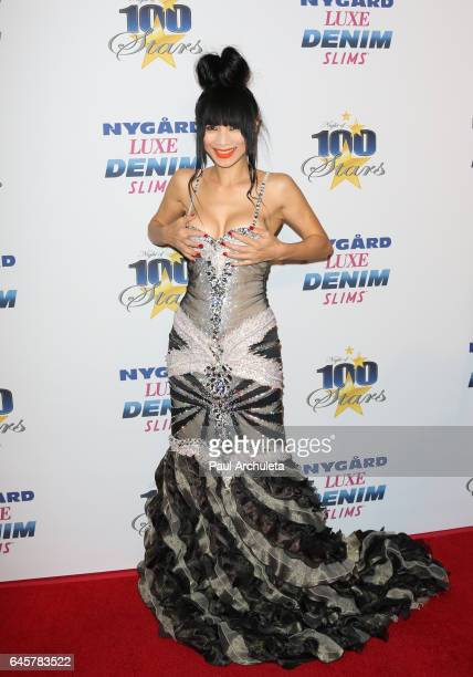 Actress Bai Ling attends the 27th annual 'Night Of 100 Stars' black tie dinner viewing gala at The Villa Aurora on February 26 2017 in Pacific...