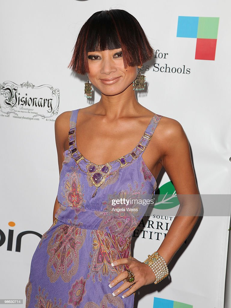 Actress Bai Ling attends the 'Global Home Tree' Earth Day VIP reception hosted by James Cameron at the JW Marriott Los Angeles at L.A. LIVE on April 22, 2010 in Los Angeles, California.