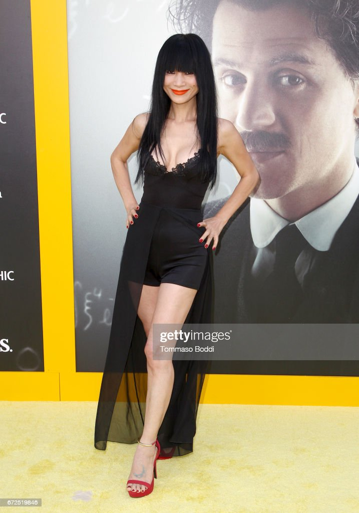 Actress Bai Ling attends the Los Angeles Premiere Screening of National Geographics 'Genius' the Fox Theater on April 24, 2017 in Los Angeles, California.
