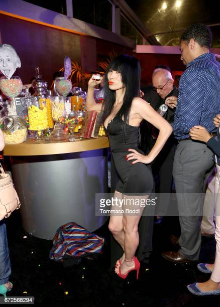 Actress Bai Ling attends the Los Angeles Premiere Screening of National Geographics 'Genius' the Fox Theater on April 24 2017 in Los Angeles...