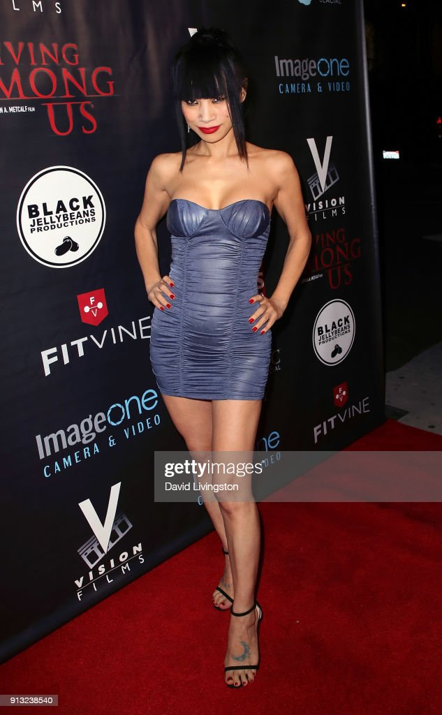 Actress Bai Ling attends the premiere of 'Living Among Us' at Ahrya Fine Arts Theater on February 1, 2018 in Beverly Hills, California.
