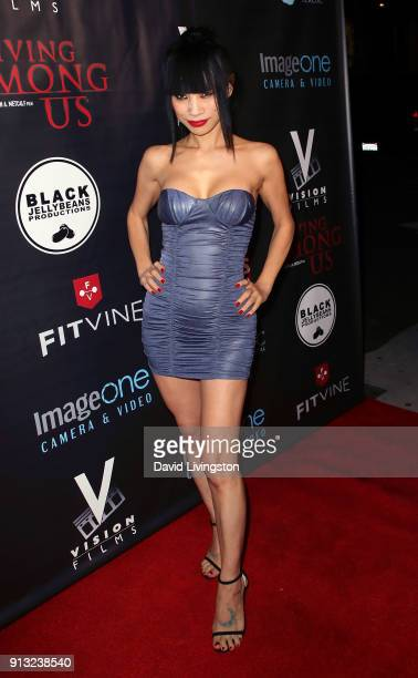 """Actress Bai Ling attends the premiere of """"Living Among Us"""" at Ahrya Fine Arts Theater on February 1, 2018 in Beverly Hills, California."""