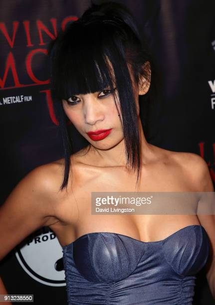 Actress Bai Ling attends the premiere of Living Among Us at Ahrya Fine Arts Theater on February 1 2018 in Beverly Hills California