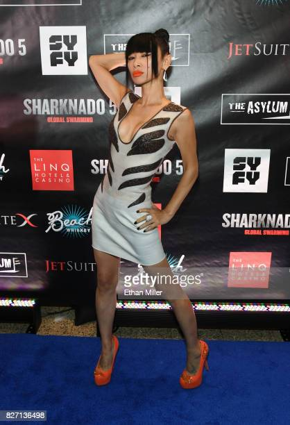 Actress Bai Ling attends the premiere of Sharknado 5 Global Swarming at The LINQ Hotel Casino on August 6 2017 in Las Vegas Nevada