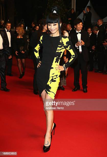 Actress Bai Ling attends the Premiere of 'Tian Zhu Ding' during The 66th Annual Cannes Film Festival at Palais des Festivals on May 17 2013 in Cannes...