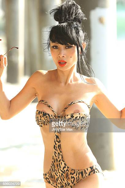 Actress Bai Ling is seen on Santa Monica Beach on May 30 2016 in Los Angeles California