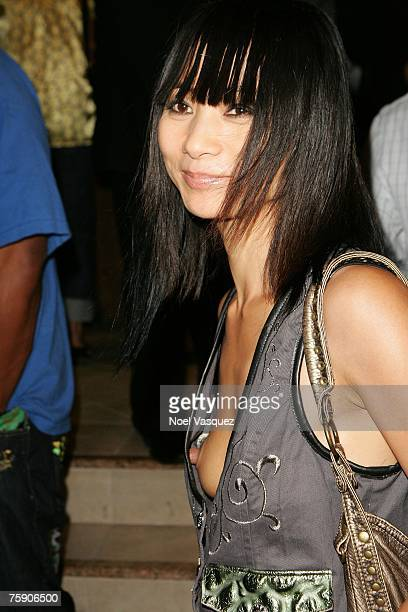 Actress Bai Ling leaves from Common's CD Finding Forever release party held at One Sunset on August 1 2007 in Los Angeles California