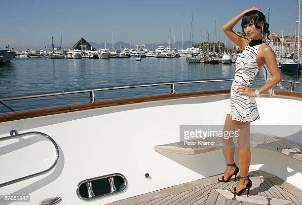 Actress Bai Ling poses at a photocall promoting the film 'Shanghai Baby' during the 59th International Cannes Film Festival May 19 2006 in Cannes...