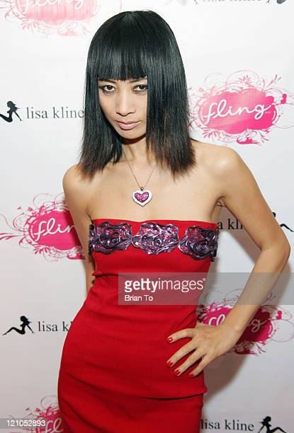 Actress Bai Ling poses at Actress Jordana Brewster Hosts Launch Party for MARS 'Fling' Chocolate at Lisa Kline Boutique on February 5 2009 in Beverly...