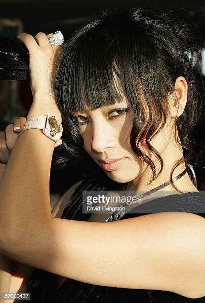 Actress Bai Ling poses at Giorgio Visconti at the 2006 Diamond Lounge By Nathalie Dubois in the Penthouse at Peterson Automotive Museum March 4, 2006...