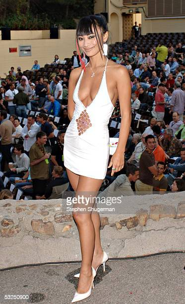 Actress Bai Ling poses before the awards presentations at the Outfest 2005 Awards Night on July 17, 2005 at the John Anson Ford Amphitheatre in Los...