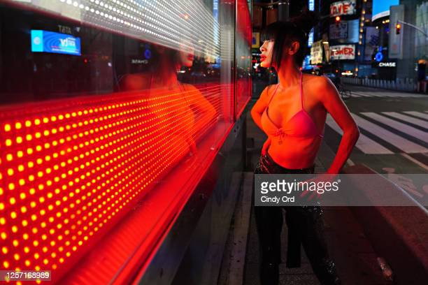 Actress Bai Ling poses for a portrait in Times Square on July 19 2020 in New York City