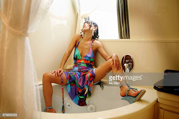 Actress Bai Ling poses for a portrait session aboard the MV Aquarius S moored at the Old Port of Cannes during the 59th International Cannes Film...
