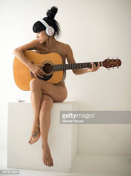 Actress Bai Ling poses for portrait at Bai Ling Visits The Starving Artists Project on October 27 2014 in Los Angeles California