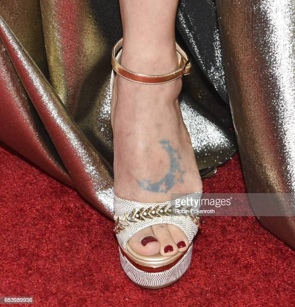 Actress Bai Ling, shoe detail, attends 2017 CASA of Los Angeles Evening to Foster Dreams Gala at The Beverly Hilton Hotel on May 16, 2017 in Beverly...