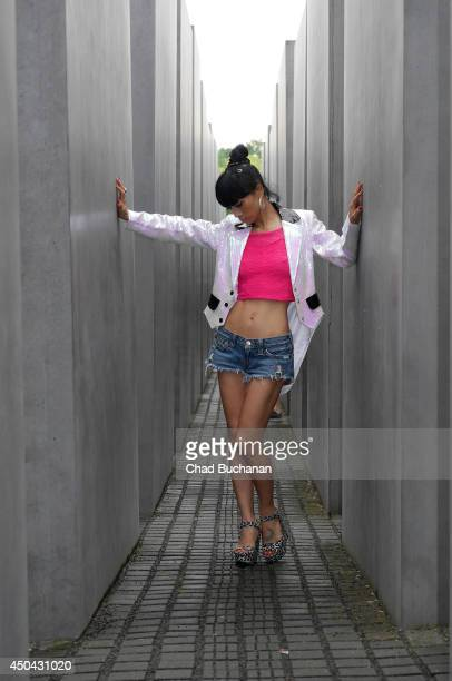 Actress Bai Ling sighted at the Holocaust Memorial on June 11 2014 in Berlin Germany