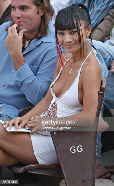 Actress Bail Ling enjoys the awards show during the Outfest 2005 Awards Night on July 17, 2005 at the John Anson Ford Amphitheatre in Los Angeles,...