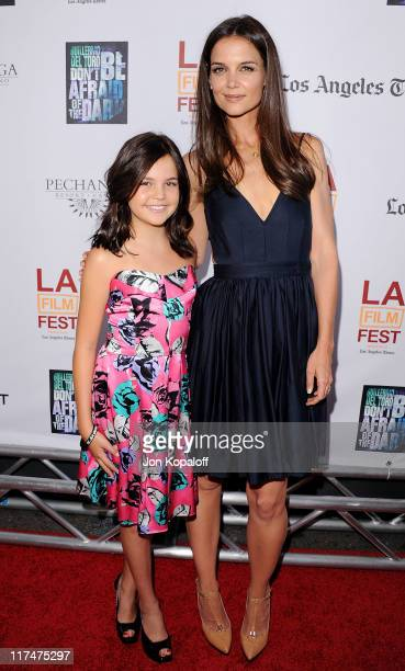 Actress Bailee Madison and actress Katie Holmes arrive at the 2011 Los Angeles Film Festival Closing Night Premiere 'Dont Be Afraid Of The Dark' at...