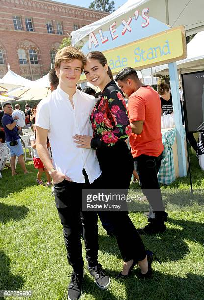 Actress Bailee Madison and Alex Lange attend the 7th annual LA Loves Alex's Lemonade at UCLA on September 10 2016 in Los Angeles California