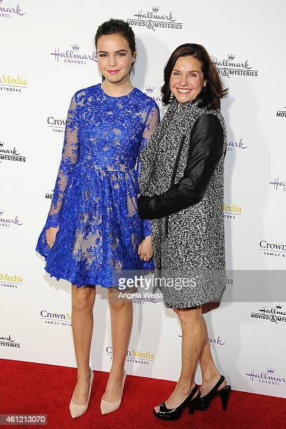 Actress Bailee Madison and her mother Patricia Riley arrive at Hallmark Channel Hallmark Movie Channel's 2015 Winter TCA party at Tournament House on...