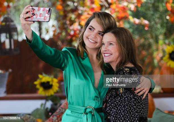 Actress Bailee Madison and her Mother Patricia Riley Selfie Detail visit Hallmark's Home Family at Universal Studios Hollywood on October 8 2018 in...