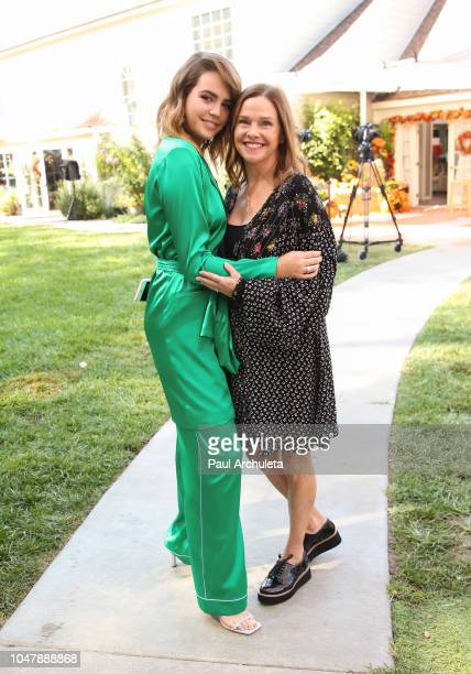 Actress Bailee Madison and her Mother Patricia Riley visit Hallmark's Home Family at Universal Studios Hollywood on October 8 2018 in Universal City...