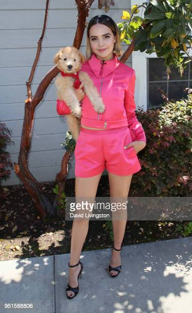 Actress Bailee Madison and her puppy Murphy visit Hallmark's Home Family at Universal Studios Hollywood on April 26 2018 in Universal City California
