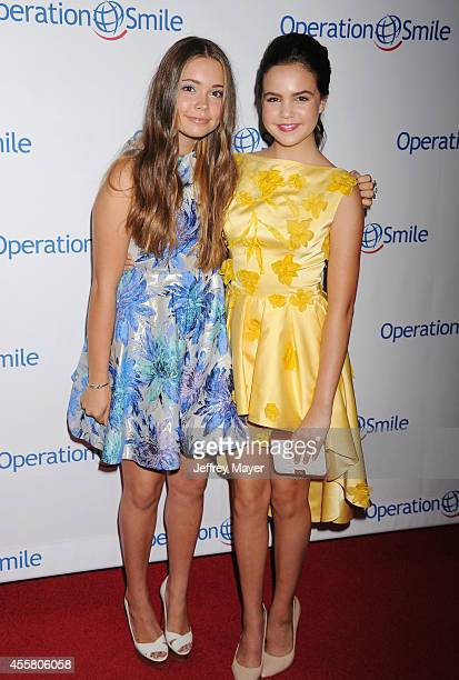 Actress Bailee Madison and Neriah Fisher attend the 2014 Operation Smile Gala at the Beverly Wilshire Four Seasons Hotel on September 19, 2014 in...