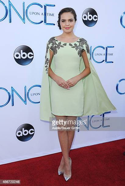 Actress Bailee Madison arrives at ABC's 'Once Upon A Time' Season 4 Red Carpet Premiere at the El Capitan Theatre on September 21 2014 in Hollywood...