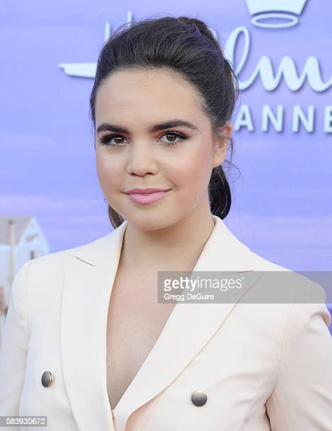 Actress Bailee Madison arrives at the Hallmark Channel and Hallmark Movies and Mysteries Summer 2016 TCA Press Tour Event on July 27 2016 in Beverly...