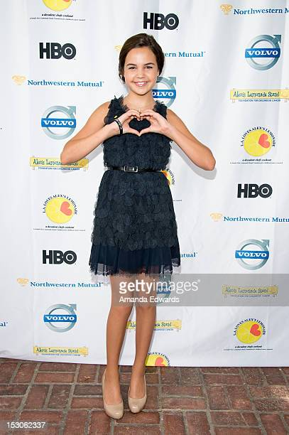 Actress Bailee Madison arrives at the LA Loves Alex's Lemonade Culinary Event at Culver Studios on September 29 2012 in Culver City California