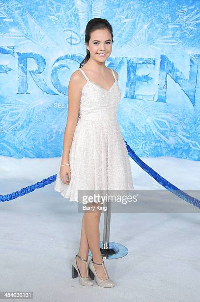 Actress Bailee Madison arrives at the Los Angeles Premiere 'Frozen' on November 19 2013 at the El Capitan Theatre in Hollywood California