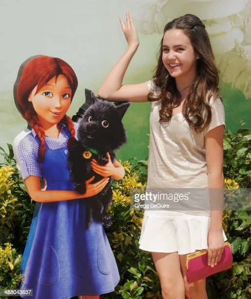 Actress Bailee Madison arrives at the Los Angeles premiere of Legends Of OZ Dorothy's Return at Regency Village Theatre on May 3 2014 in Westwood...