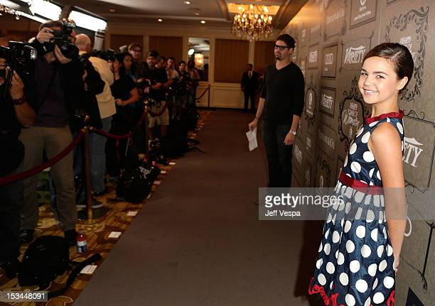 Actress Bailee Madison arrives at Variety's 4th Annual Power of Women Event Presented by Lifetime at the Beverly Wilshire Four Seasons Hotel on...