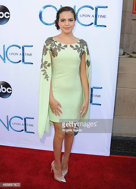 """Actress Bailee Madison attends ABC's """"Once Upon A Time"""" Season 4 red carpet premiere at the El Capitan Theatre on September 21, 2014 in Hollywood,..."""