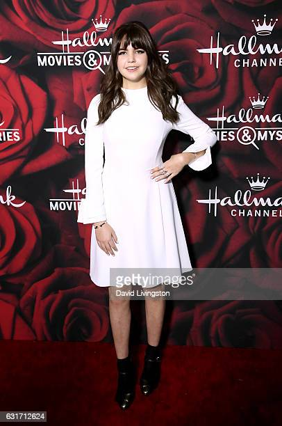 Actress Bailee Madison attends Hallmark Channel and Hallmark Movies and Mysteries Winter 2017 TCA Press Tour at The Tournament House on January 14...