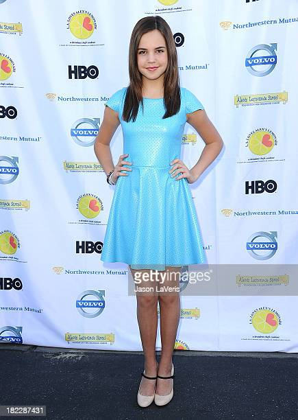 Actress Bailee Madison attends the 4th annual LA Loves Alex's Lemonade event at Culver Studios on September 28 2013 in Culver City California