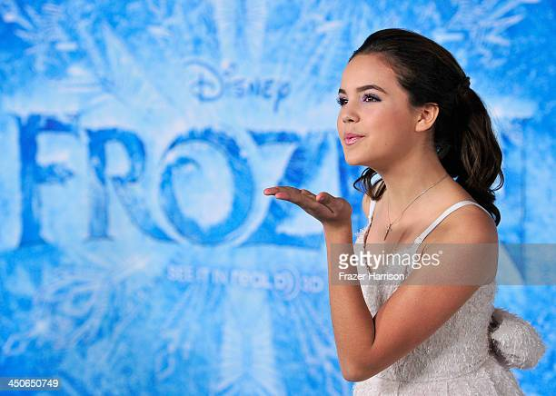 Actress Bailee Madison attends the premiere of Walt Disney Animation Studios' Frozenat the El Capitan Theatre on November 19 2013 in Hollywood...