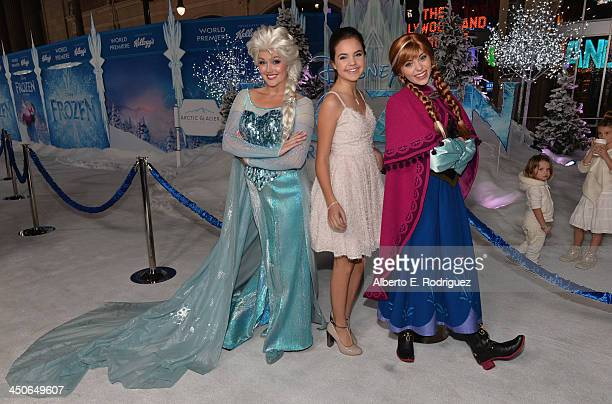 Actress Bailee Madison attends The World Premiere of Walt Disney Animation Studios' Frozen at El Capitan Theatre on November 19 2013 in Los Angeles...
